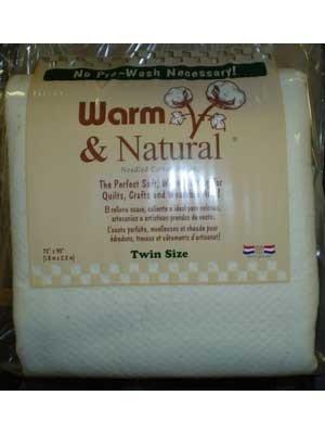 Warm & Natural Batting Twin Size 72x 90