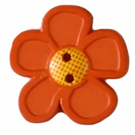 Orange Novelty Button 28mm