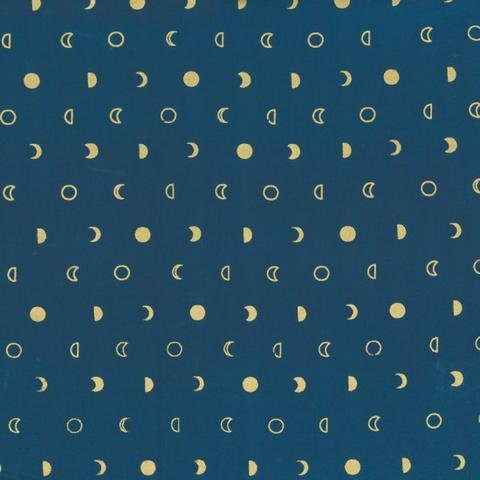 Indah Lunar Metallic Snips Batik - Navy/Gold by Me and You for Hoffman