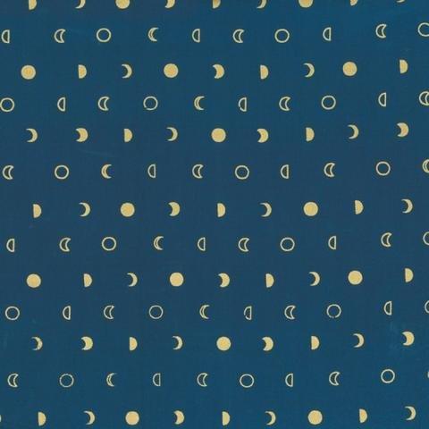 Indah Lunar Metallic Snips Batik - Navy/Gold by Me and You for Hoffman