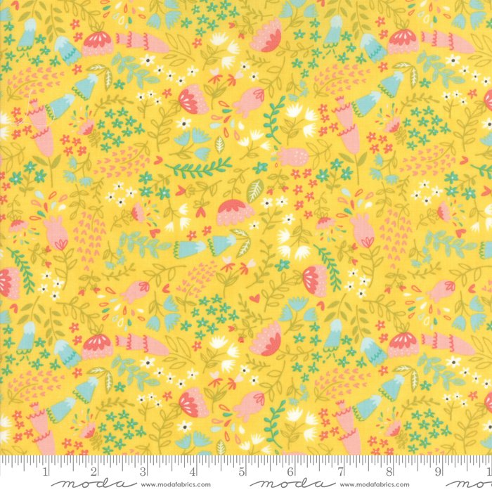 Home Sweet Home - Forest Floral Yellow by Stacy Iest Hsu for Moda Fabrics