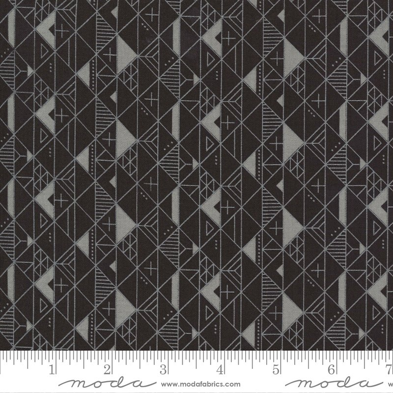 Smoke and Rust - Smoke Soot Geometric - by Lella's Boutique for Moda