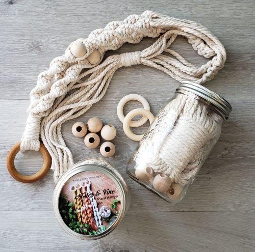 Aster & Vine Spiral Macrame Plant Hanger Kit
