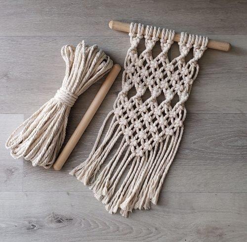 Aster & Vine Small Macrame Wall Hanging Kit