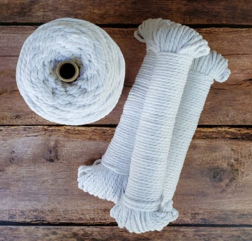 Aster & Vine Recycled Cotton Rope - 5mm Hanks 150'