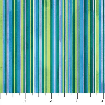 Cosmic Fusion Green Stripes #72 by Northcott