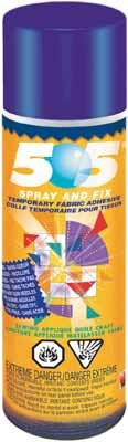 Repositional 505 Spray Fabric Adhesive 500ml
