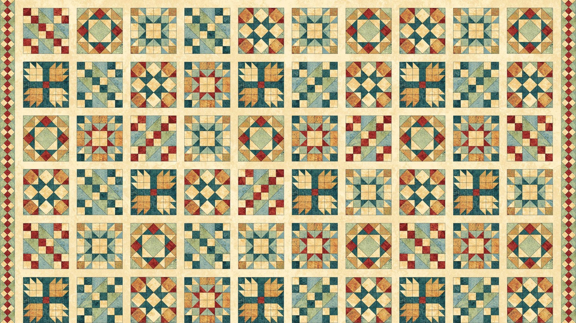 A Stitch In Time - Northcott - Quilt Blocks