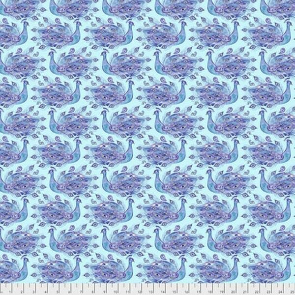 Peacock Paradise - Peacock Small by Corinne Haig for Free Spirit  30% OFF