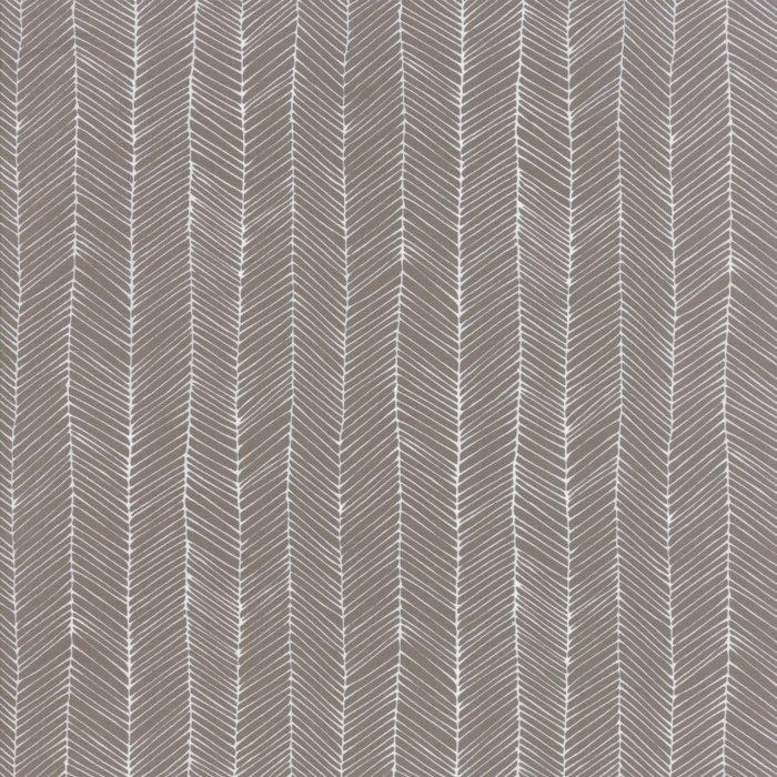 Catnip by Gingiber for Moda - Herring Bone Grey - 30% off