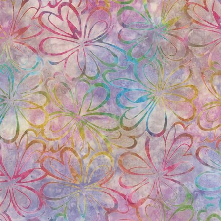 Wilmington Batiks -  Rainbow Flowers