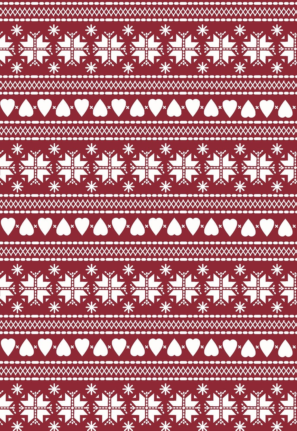 Nordic Hygge - Sweater Print Red
