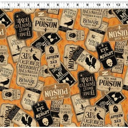 Pick Your Poison - Poison Tags by Dan DiPaolo for  Clothworks