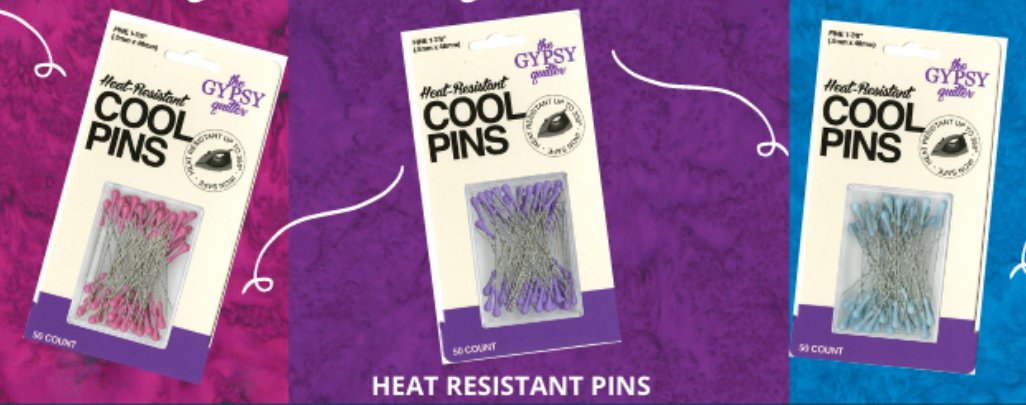 Cool Pins 50pc Heat Resistant by The Gypsy Quilter