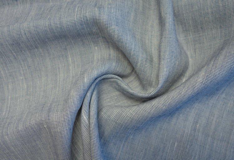 Aero Cross Dye Denim Blue Linen Viscose Spandex