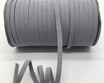 Grey Flat Elastic 1/4 inch