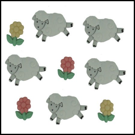 Count Sheep Button Package