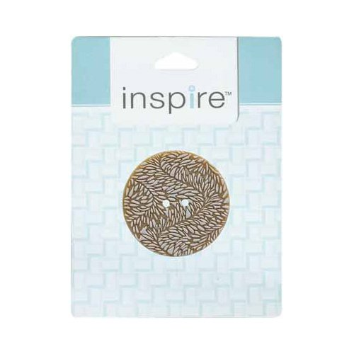 Inspire button - Cream Leafy Wave