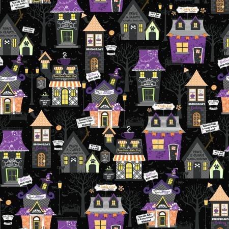Hometown Halloween - Black Hometown Houses by Maywood Studios