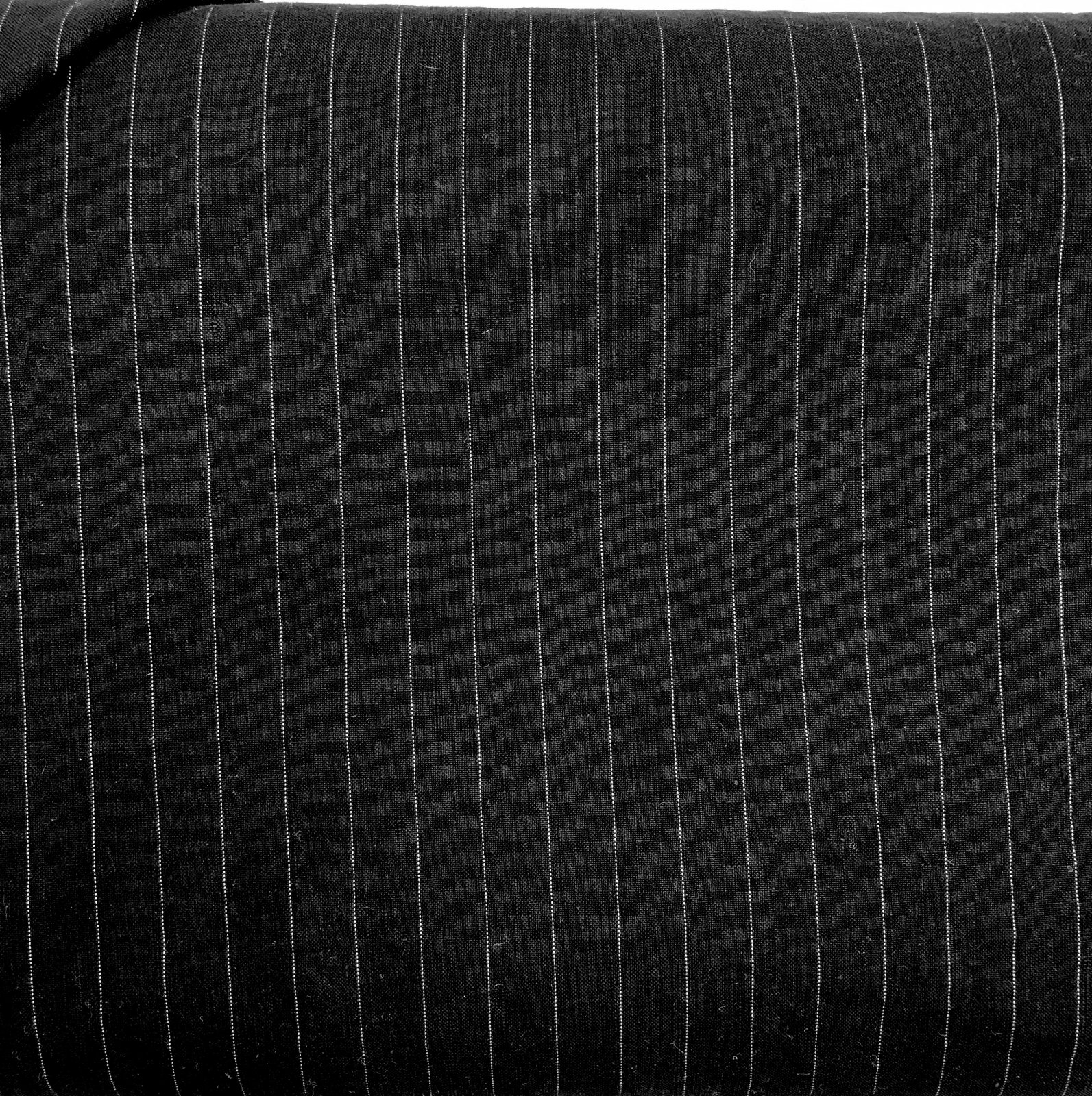 Abigail Black Pinstripe Linen Tencel Blend