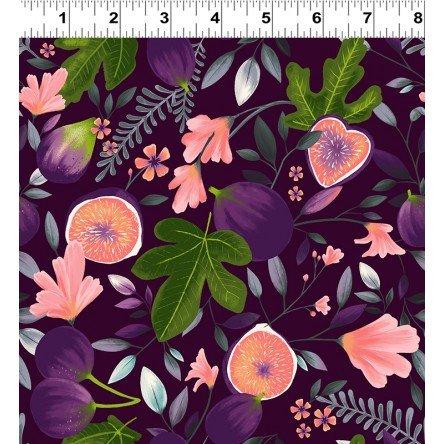 Amethyst Garden Indigo Figs - Clothworks