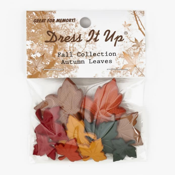 Dress it Up - Autumn Leaves Buttons