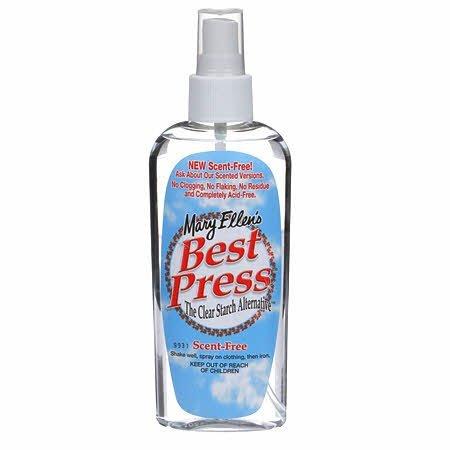 Best Press Spray Starch Scent Free 6oz Travel Size