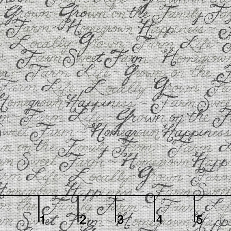Homegrown - Barnyard Grey Script - By Deb Strain for Moda ----> 30% OFF!