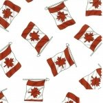 Canadian Flag - White