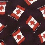 Canadian Flag - Black