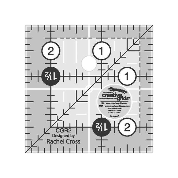 Creative Grids Ruler - 2.5 Square Turnaround