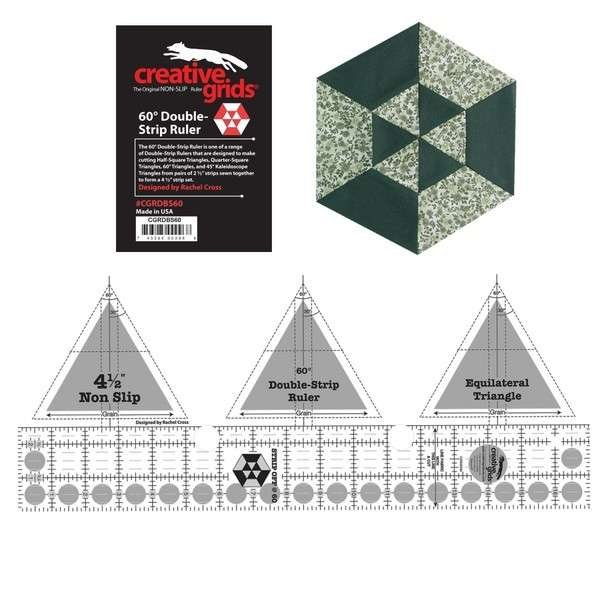 Creative Grids Ruler -  60 Degree Triangle Double Strip