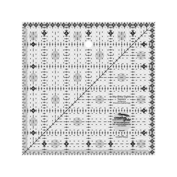 Creative Grids Ruler - Itty Bitty Eights Square 6 x 6 Ruler