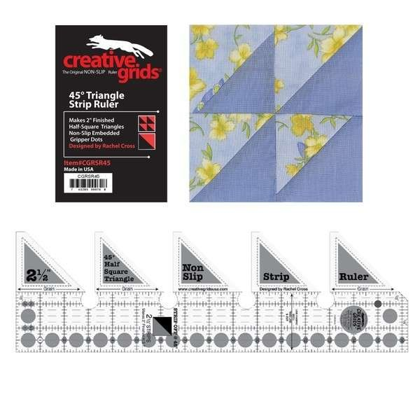 Creative Grids Ruler - 45 Degree Triangle Strip
