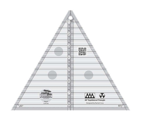 Creative Grids Ruler - 60 Degree Triangle 8.5