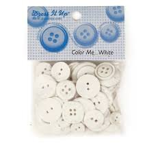 Dress it Up - Color Me White Buttons