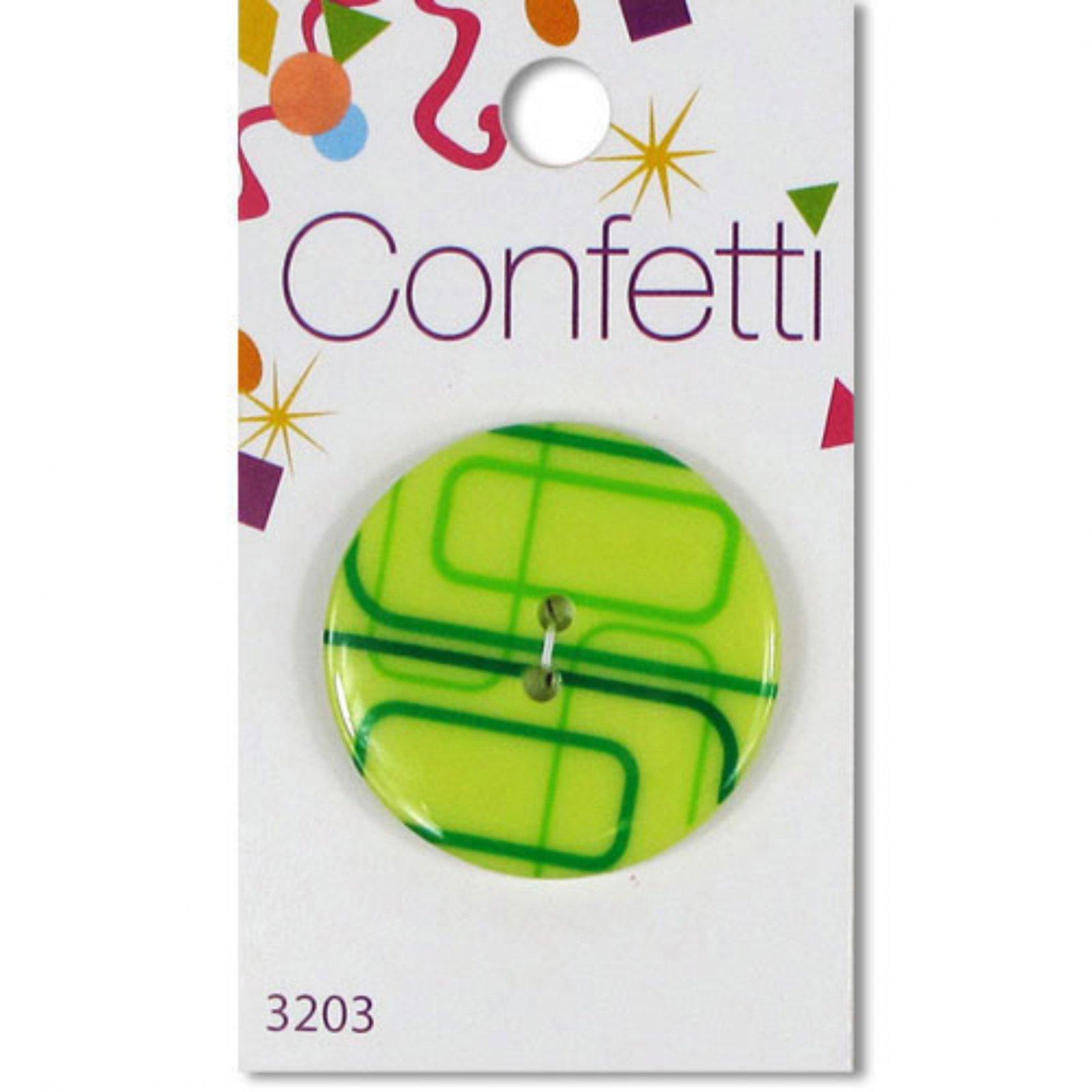 Confetti - Green Rectangles Button