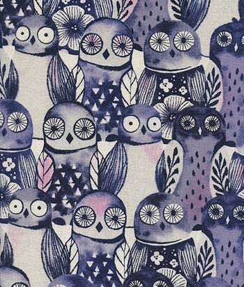 Eclipse - Owls by Sarah Watts for Cotton + Steel