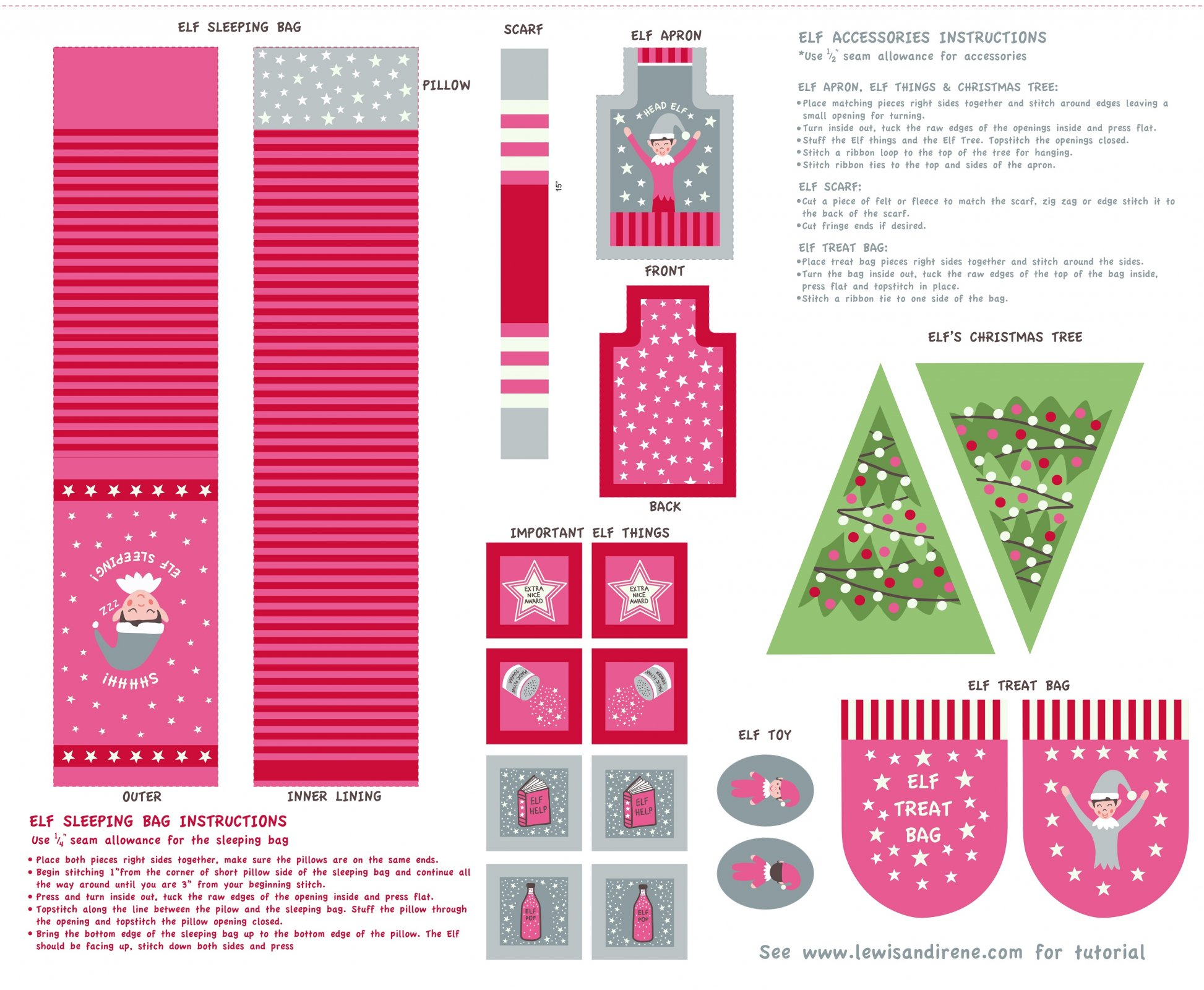Christmas Glow - Elf Accessories by Lewis & Irene 30% OFF!