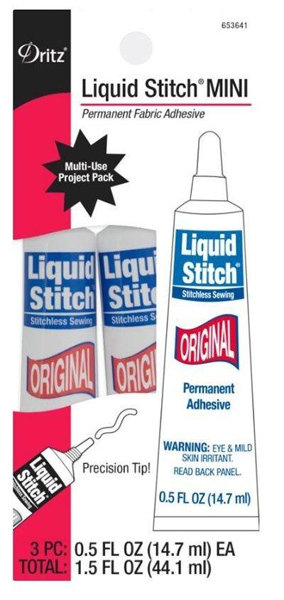 Dritz Liquid Stitch Original Mini Tubes 3 Pack, 14.7ml (0.5 oz)