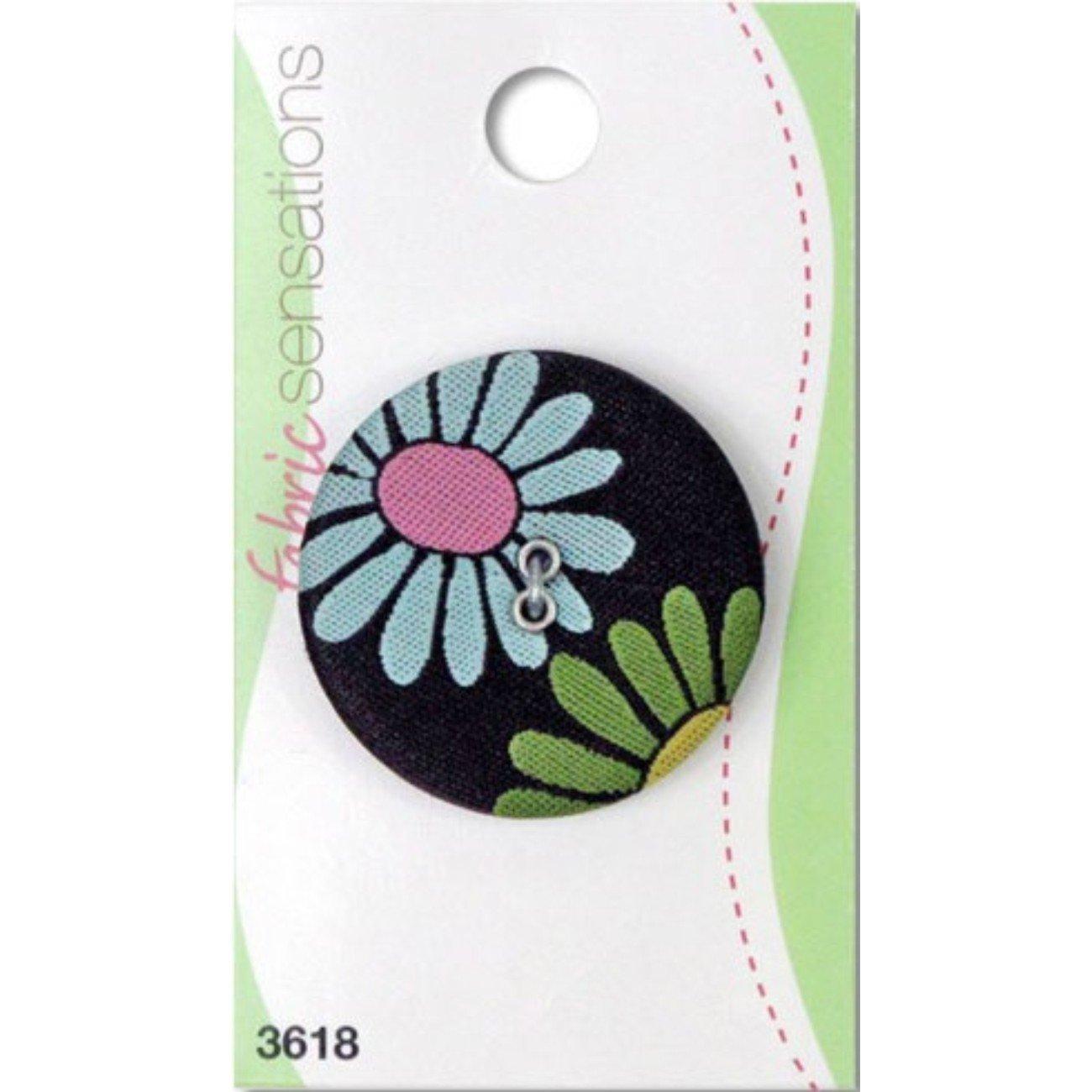 Fabric Sensations - Mod Flowers 1-3/8 Button