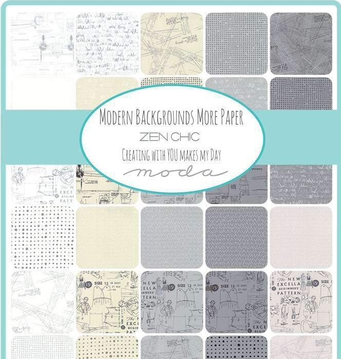 Modern Backrounds More Paper Charm Pack by Zen Chic for Moda