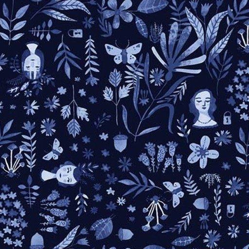 Eloise's Garden -  Planning in Blue by Abigail Halpin for FIGO Fabrics