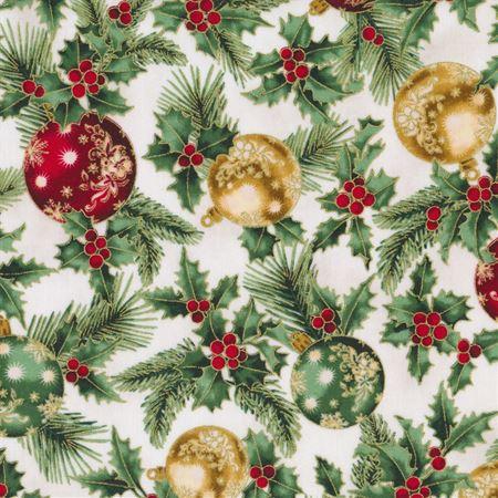 Joyful Tradiditons - Ornaments on Natural by Hoffamn