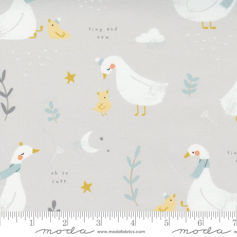 Little Ducklings - Grey Ducks by Paper & Cloth for Moda