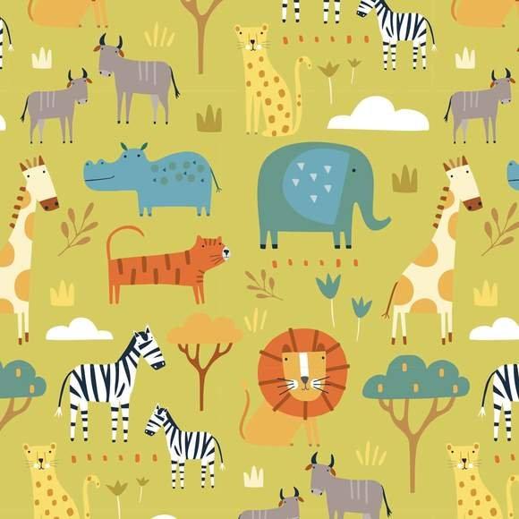 Habitat - Green Safari Animals by Dashwood Studio
