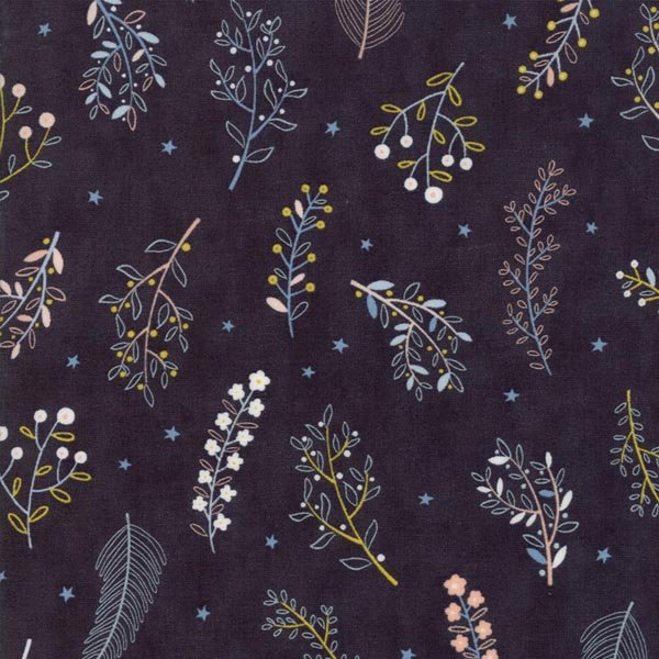 Wild & Free - Blooms on Midnight - By Abi Hall for Moda 30% Off