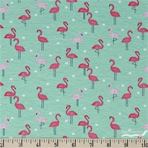 Flamingos's Paradise Stretch Knit by Dear Stella - ON SALE