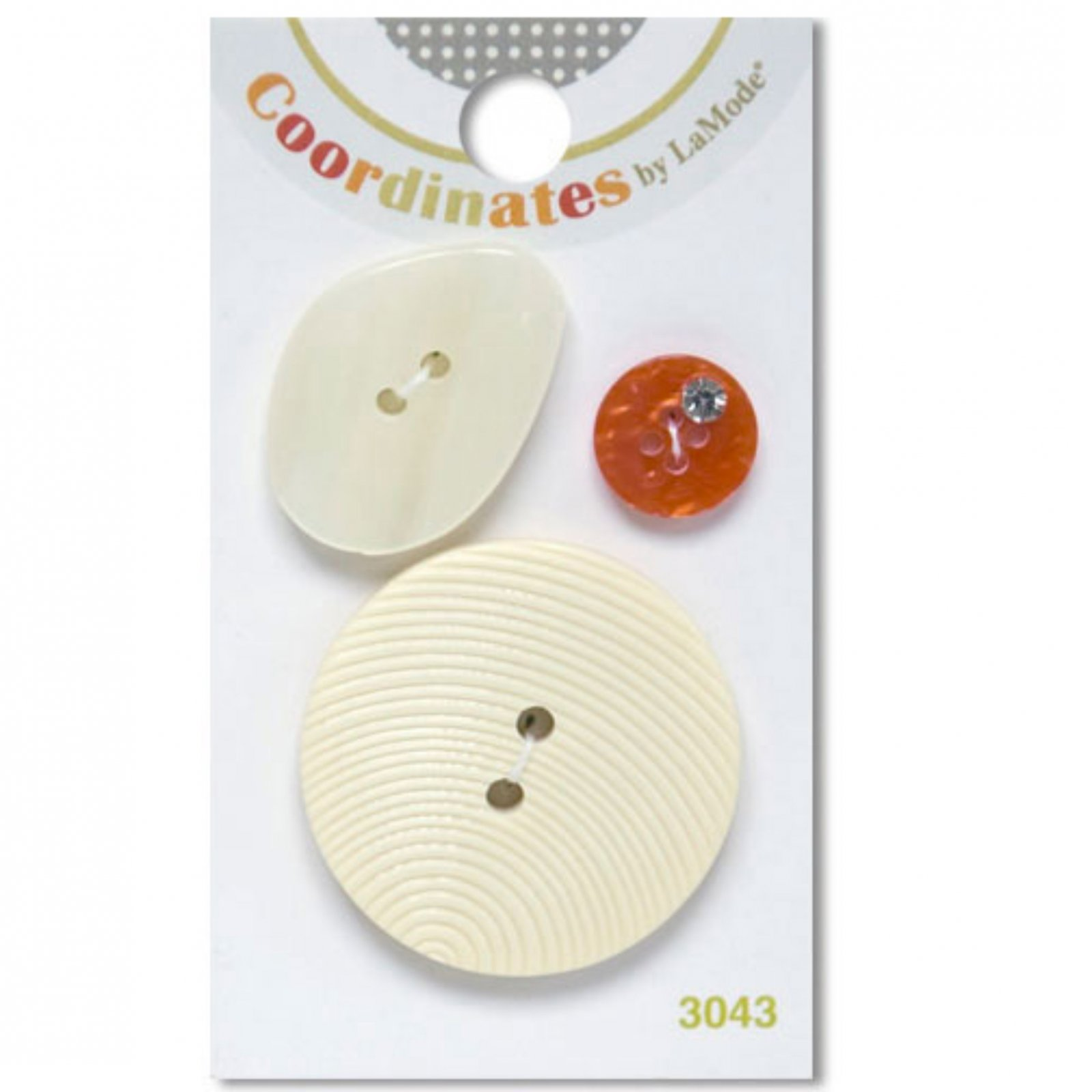 Coordinates by LaMode - Ivory and Orange Buttons