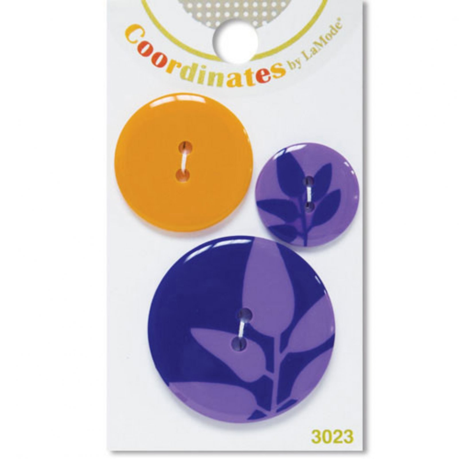 Coordinates by LaMode - Purple Silhouette Buttons